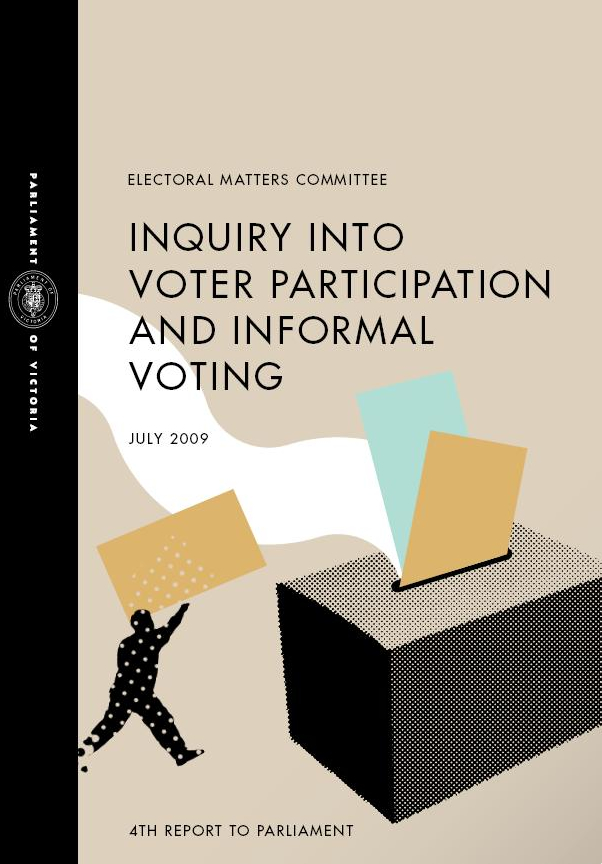 Cover of Inquiry into voter participation and informal voting