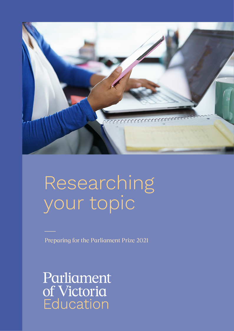 Research tips for the 2021 Parliament Prize