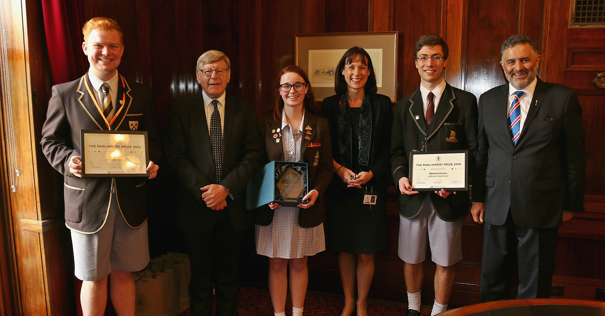 Parliament Prize winners