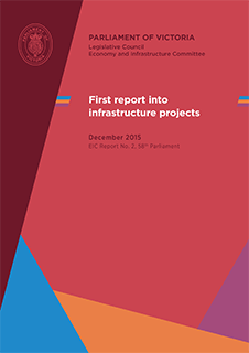 Inquiry into Infrastructure Projects - First Report cover