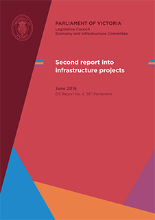 Inquiry into Infrastructure Projects - Second Report cover