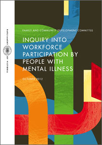 inquiry into workforce participation by people with mental illness