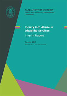 Inquiry into Abuse in Disability Services - Interim Report