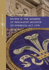 Report cover for the Review of the Members of Parliament (Register of Interests) Act 1978