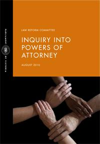 report cover for the Inquiry into Powers of Attorney