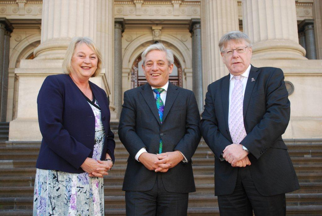Christine_Fyffe_John_Bercow_and_Bruce_Atkinson_at_Parliament_House_in_Melbourne