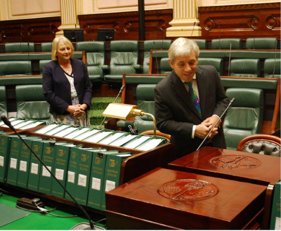 John_Bercow_inspects_the_Legislative_Assembly_Chamber