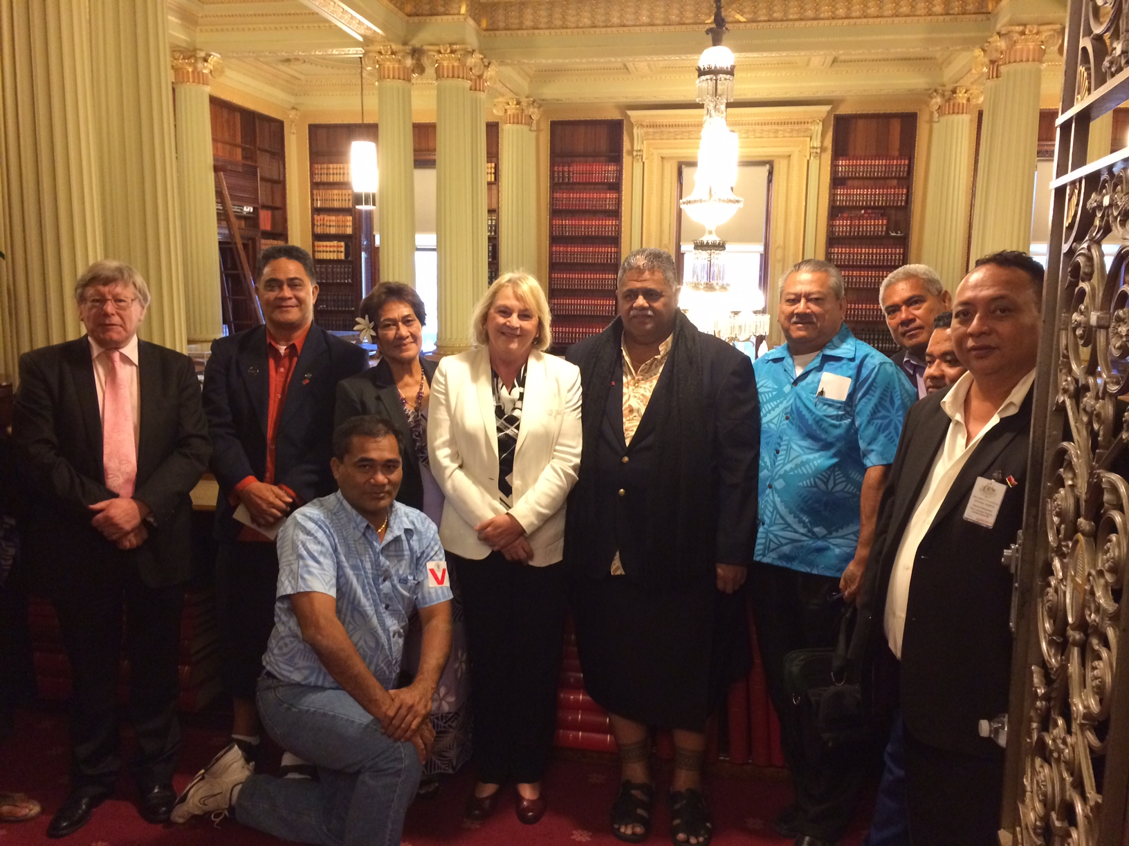 Samoan_MPs_at_Parliament_House