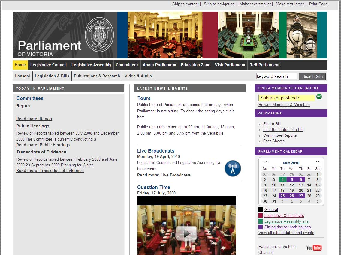 Parliament of victoria fact sheet c2 for Parliament site
