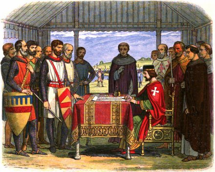 Magna Carta signing by King John