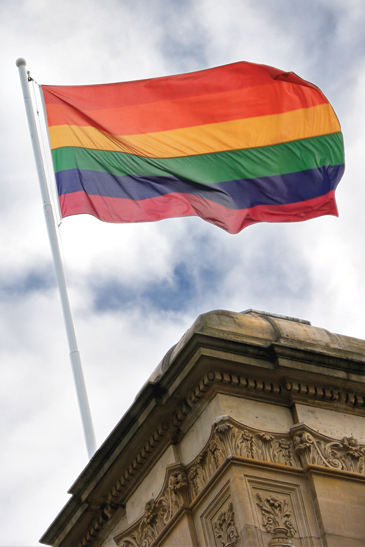 Rainbow flag flies over Parliament House